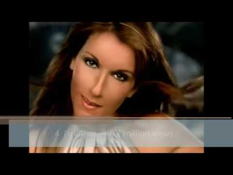Celine Dion - Top 10 Most Watched Videos on YouTube