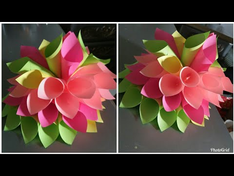 DIY beautiful and amazing sticky notes flower