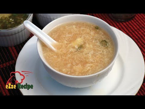কর্ণ সুপ স্ট্রিট ফুড শপ স্টাইল | Corn Soup Recipe | Bangladeshi Street Food Shop Style