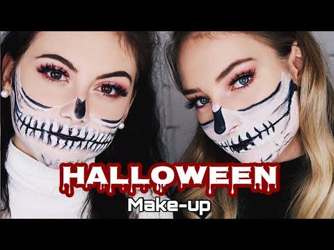 Halloween half Skull Make-up Look /MissNici thumbnail