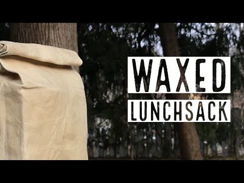 Making a Waxed Cotton Lunchbag