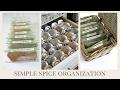 HOME ORGANIZATON TIP   Simple Spice Organization