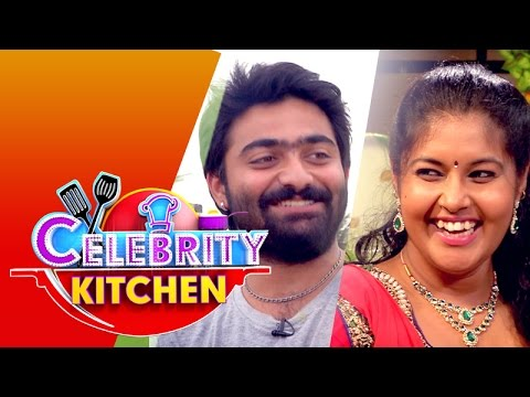 Actress Vinitha & Actor Maanas In Celebrity Kitchen (21/06/2015)