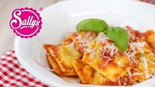 Spinat-Ricotta-Ravioli in Tomatensoße / Was koche ich heute?