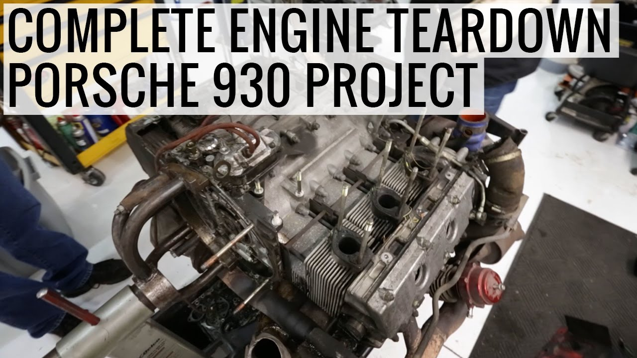 TurboKraft Tears Down a 1987 930 Porsche 911 Turbo Engine