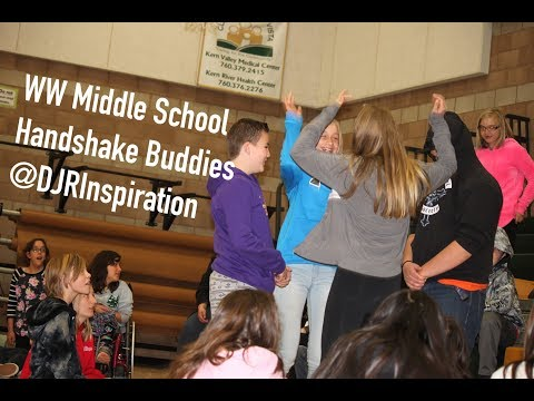 Woodrow Wallace Middle School Handshake Buddies | Diego J Rios Inspiration