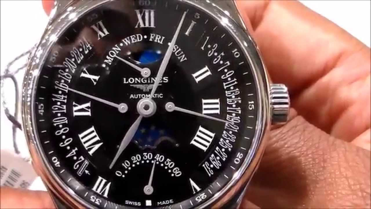 Longines Masters Collection Moon Phase Review - YouTube