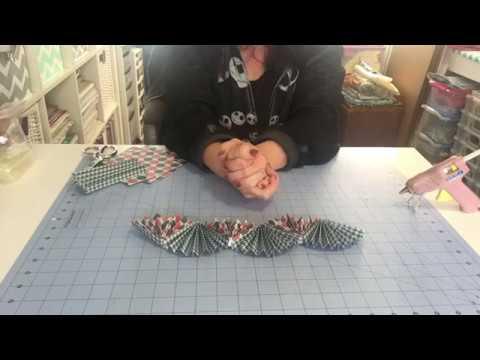 DIY paper fan garland/banner