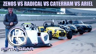 Zenos E10 R vs. Radical SR1 vs. Caterham 620R vs. Ariel Atom - The FULL Challenge | Fifth Gear