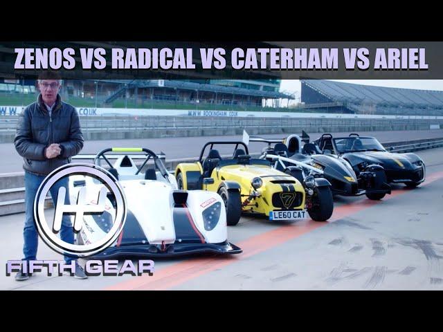 Zenos E10 R vs. Radical SR1 vs. Caterham 620R vs. Ariel Atom - The FULL Challenge | Fifth Gear