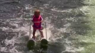 Video: Florida baby sets water-skiing record