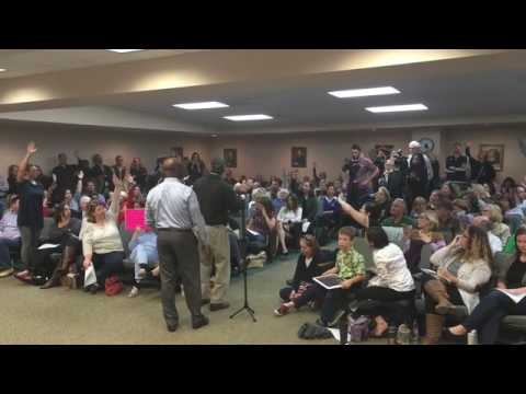 Rep. Mark Sanford and Senator Tim Scott held a town hall in Mount Pleasant on Saturday morning.