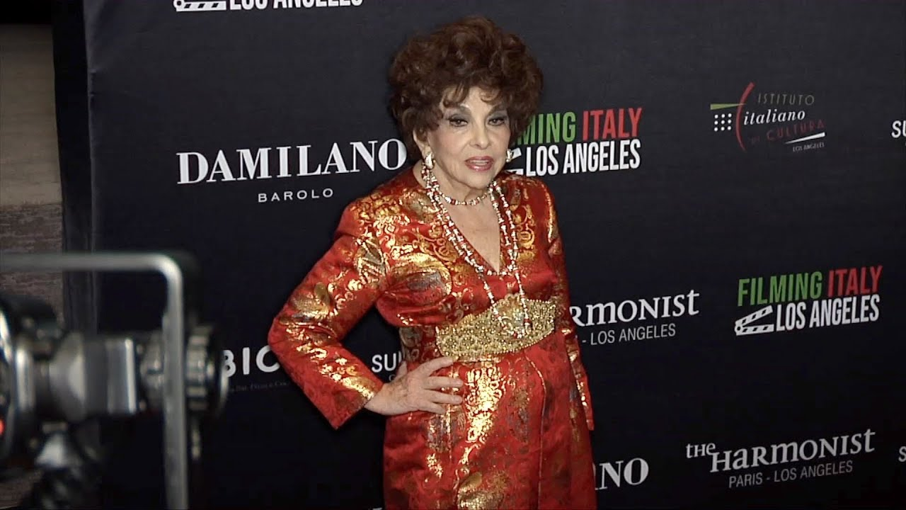 Gina Lollobrigida 2019 Filming Italy Los Angeles Red Carpet  YouTube