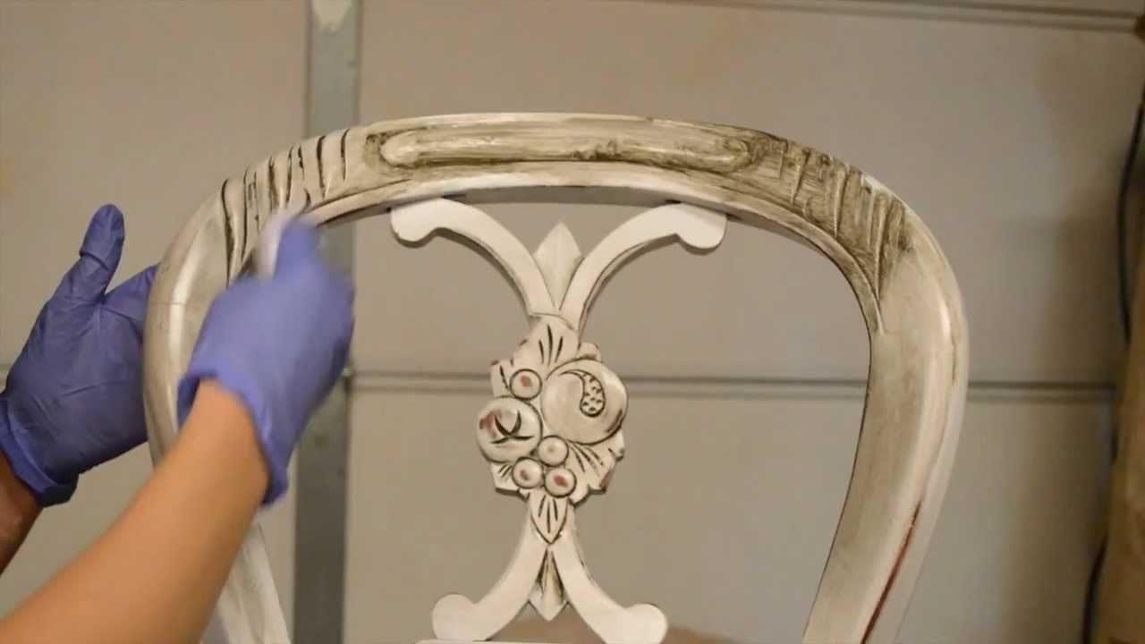 - How To Antique Furniture. Distress. Stain. - YouTube