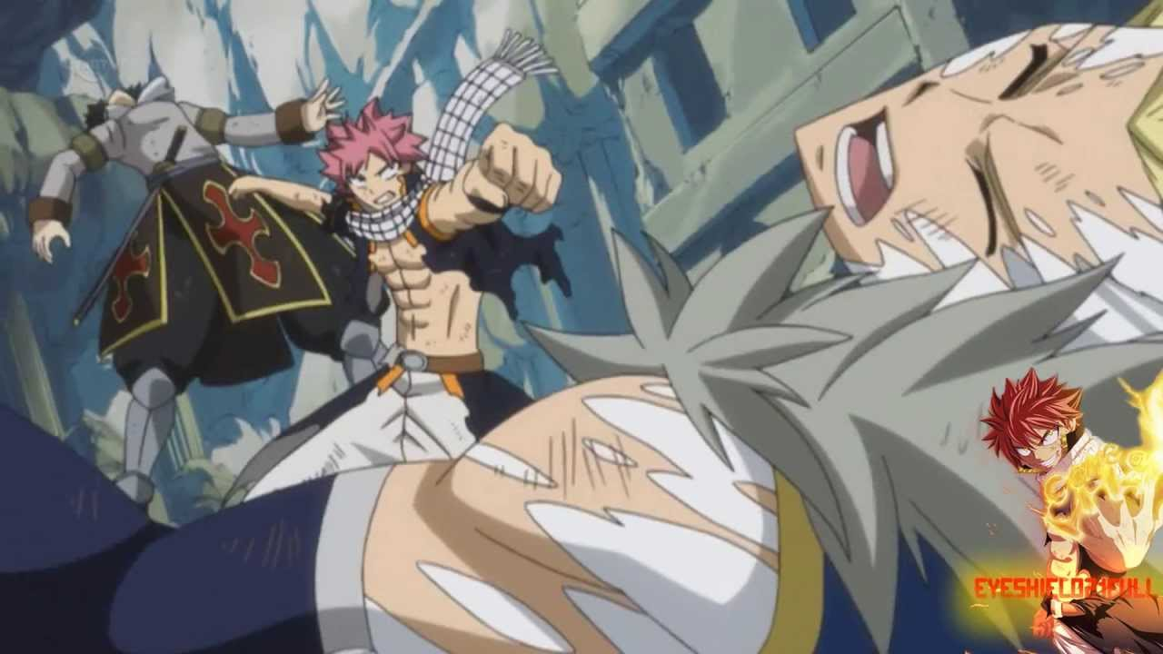 [Fairy Tail] Natsu Gajeel vs Sting Rogue Amv ♫ - YouTube