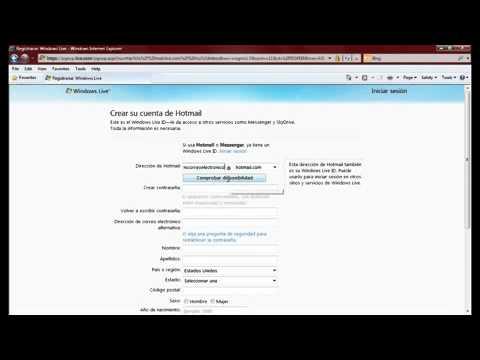Como crear un correo electronico en Hotmail paso a paso