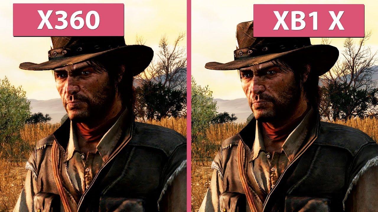 [4K] Red Dead Redemption – Xbox 360 vs  Xbox One X 4K Update Graphics  Comparison