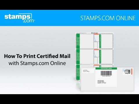 How To Print Certified Mail - Stamps.com Online