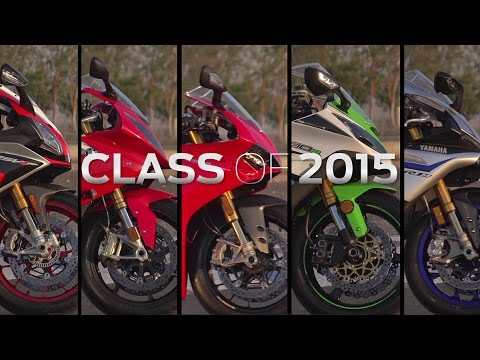 CLASS OF 2015: RSV4 VS. S1000RR VS. 1299 PANIGALE VS. ZX-10R VS. R1M | ON TWO WHEELS