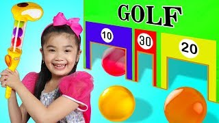 Hana Pretend Play w/ Junior MINI GOLF Play Set Toy Game for Kids