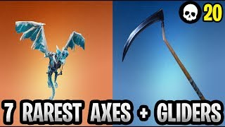 The 7 Rarest Pickaxes/Gliders In Fortnite History! (Battle Royale Rare Items)