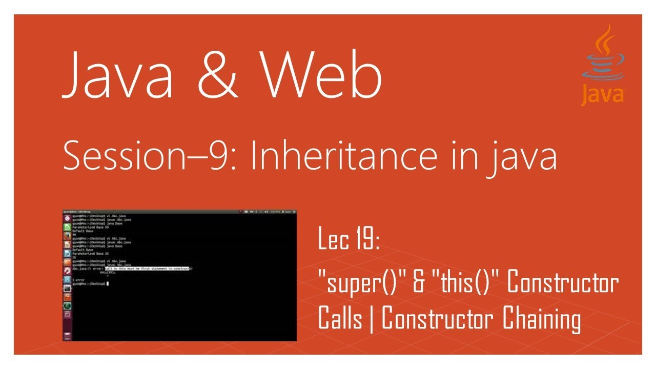 Inheritance in Java | #19 |