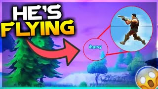 NEW VISUAL FLYING GLITCH IN Fortnite!! HOW TO FLY (FUNNY MOMENTS)