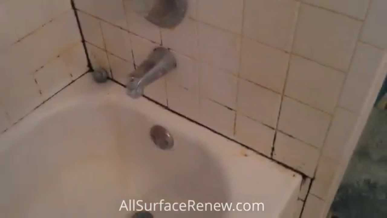 Moldy Bathtub And Tile Refinishing In Austin TX