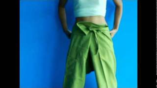 how to wear fisherman pants or yoga pants very easy