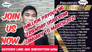 FRIENDSHIP PHILIPPINES TOP 15 FROM JAN- MARCH 2021 || mamang PSD || Ron Capua