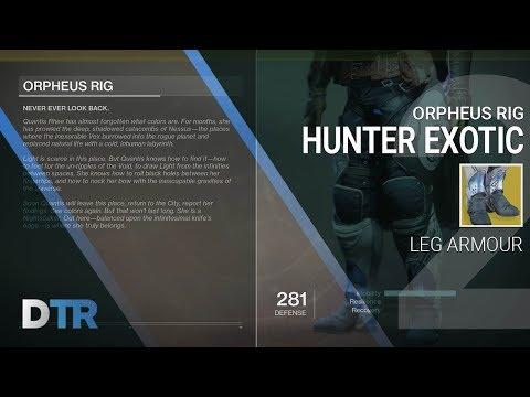 Destiny 2: Orpheus Rig Exotic Hunter Legs Gameplay & Review (INFINITE SUPER)