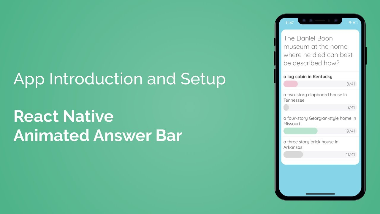 App Introduction and Setup (React Native Animated Answer Bar - Part 1/7)