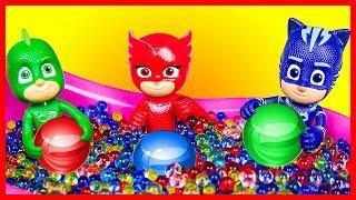 Супергерои спасают Кетбоя! Бассейн в штабквартире. Мультик Герои в масках. #Алетт vs #Лунная девочка