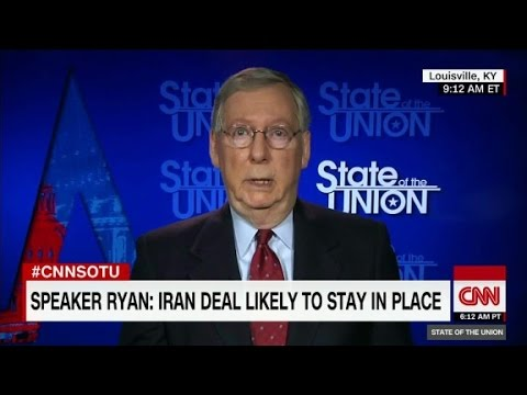 McConnell: fate of Iran deal up to Trump