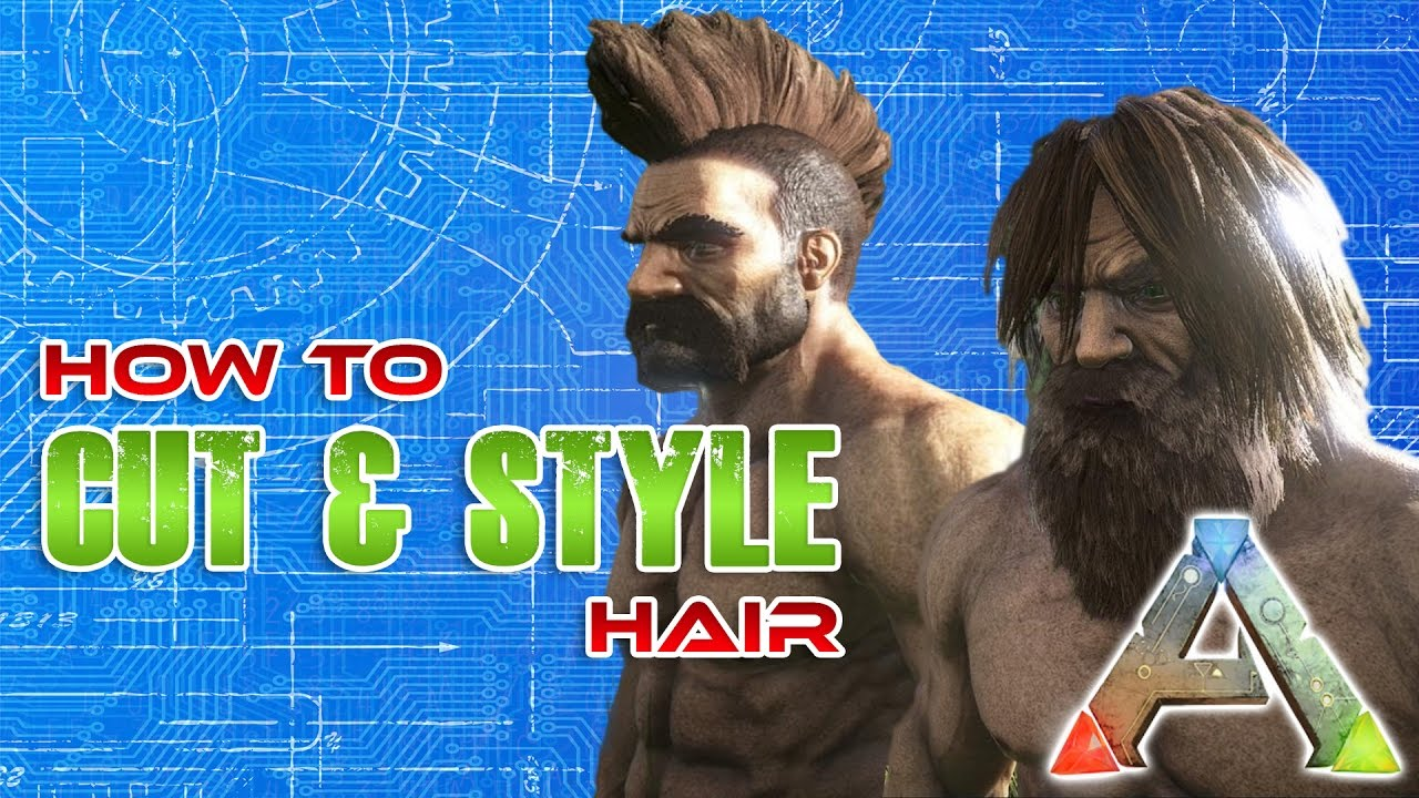How to cut hair in ARK  Hair cut Tutorial  Ark Survival Evolved