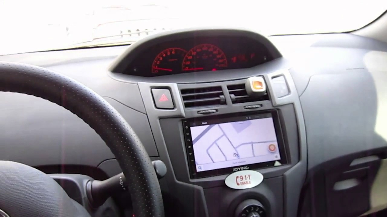joying stereo hu in toyota yaris 2009 one year after. Black Bedroom Furniture Sets. Home Design Ideas