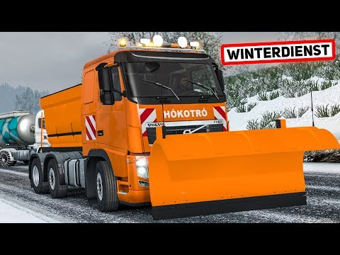 Der WINTERDIENST kommt - im Volvo durch den Schnee   EURO TRUCK SIMULATOR 2