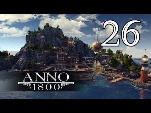 Прохождение Anno 1800 #26 - Старина Нейт. Битва за водопады [Затонувшее сокровище #2][Эксперт]