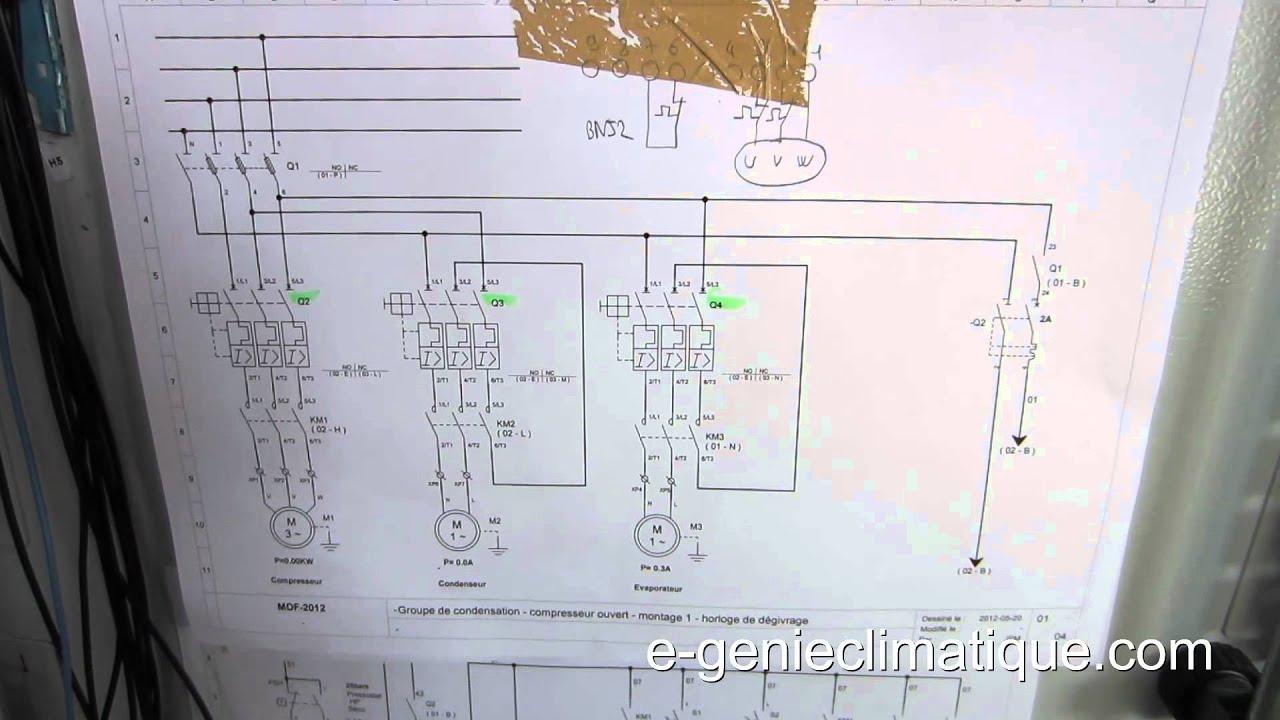 Froid39 montage 2 partie lectrique automatic pump down youtube - Schema electrique chambre froide ...