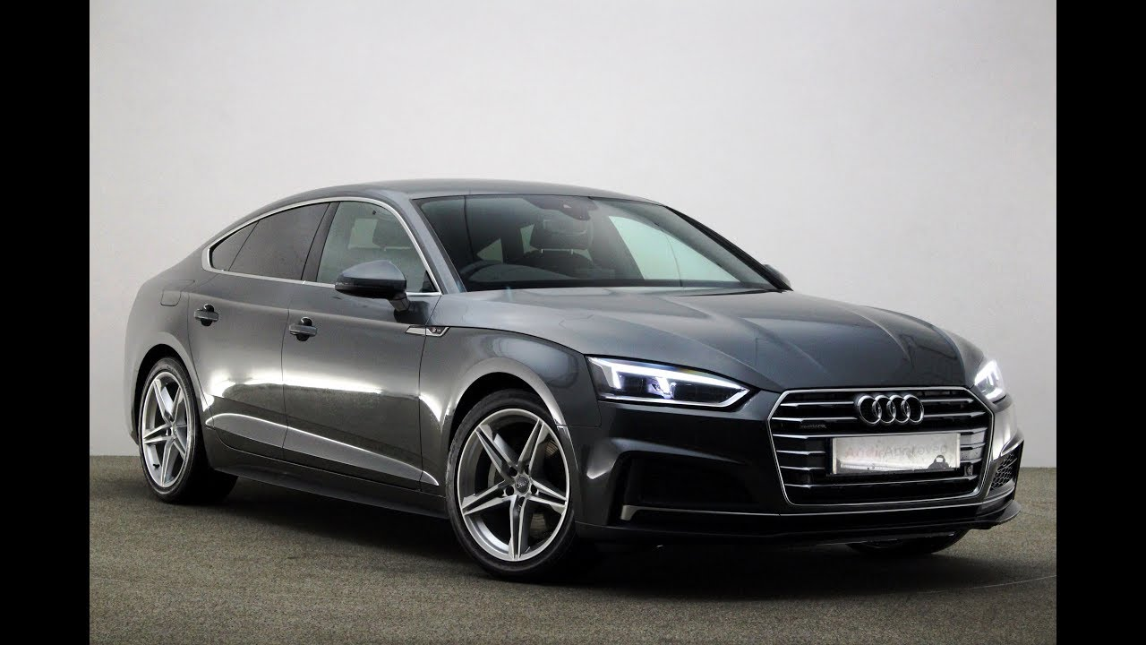 ro17lyy audi a5 sportback tdi quattro s line grey 2017 reading audi youtube. Black Bedroom Furniture Sets. Home Design Ideas