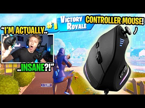 I Bought A CONTROLLER MOUSE For Fortnite And It TURNED Me Into THIS... (best Console Mouse)