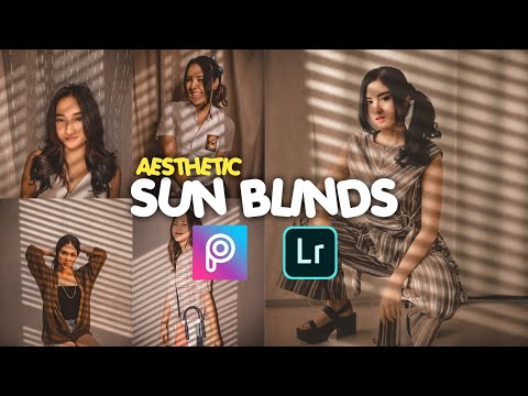 Tutorial Edit Foto Aesthetic Sun Blinds Ala Selebgram | Picsart Editing | Lightroom Mobile Tutorial
