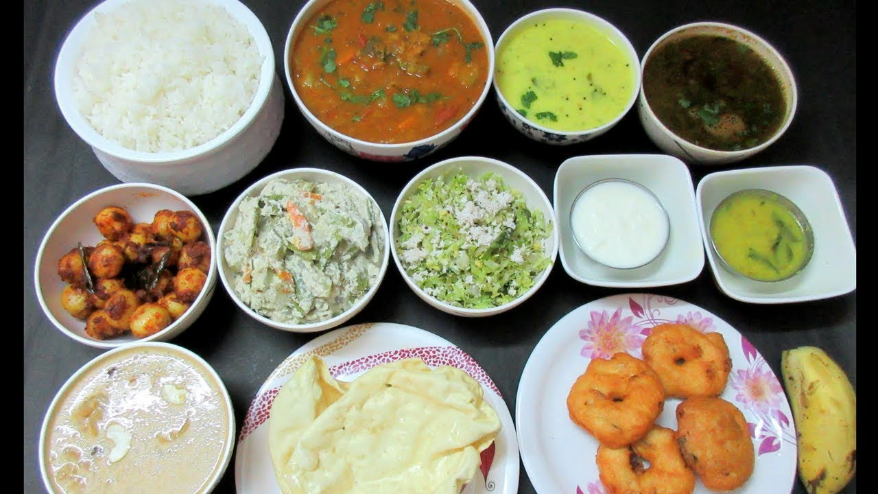 tamil vegetarian lunch menu food special veg dinner routine meals dishes indian recipes