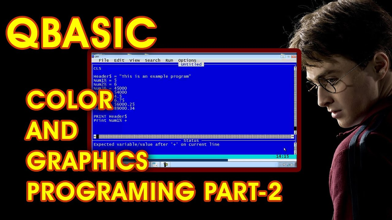 QBasic Color and Graphics Programing