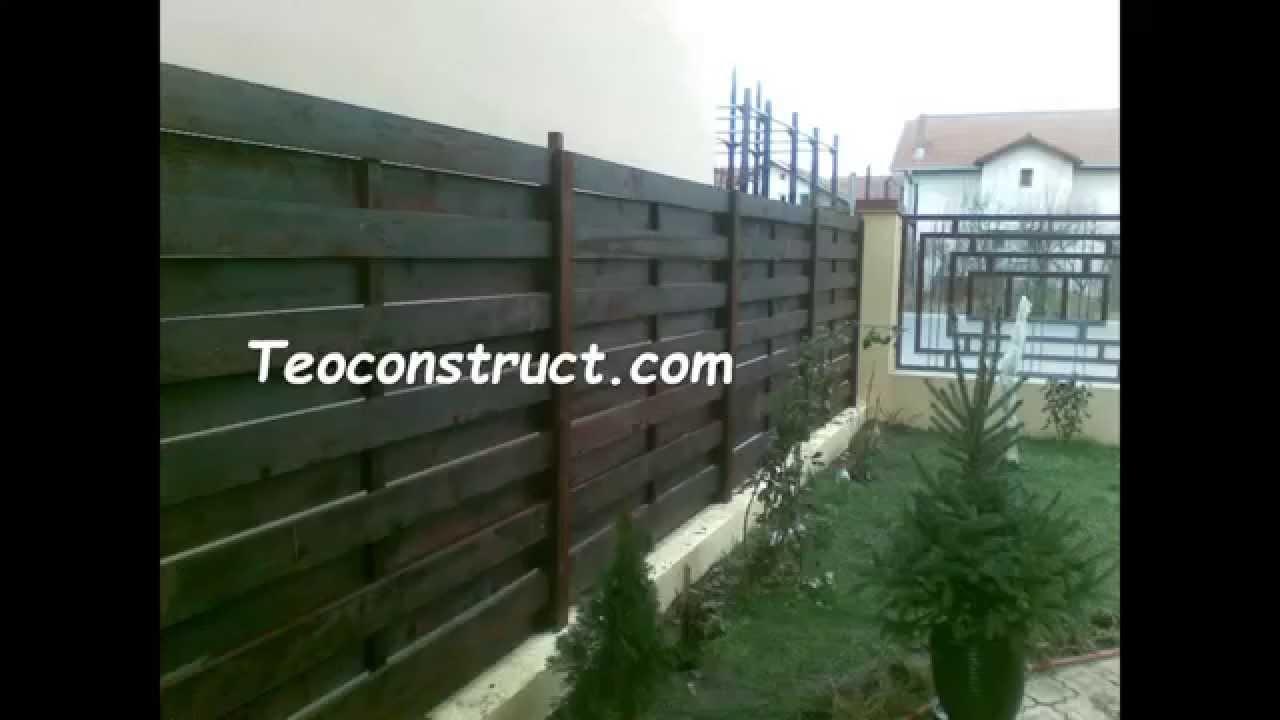 Modele garduri din lemn youtube for Modele de balcon din lemn