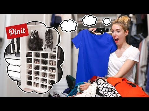 I Tried a PINTEREST HACKS CLOSET DECLUTTER... What ACTUALLY Worked?!