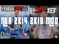 NBA 2K18 HD Gameplay (2k14 mod) FREE DL Link