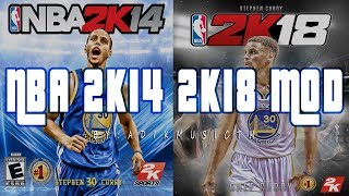NBA 2K18 HD Gameplay (2k14 mod) FREE DL Link