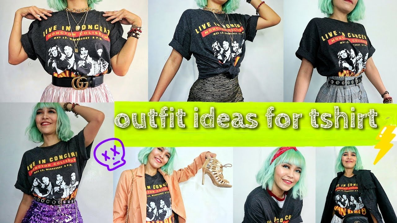 [VIDEO] - outfit ideas for tshirt | ootd boyfriend tshirt 5