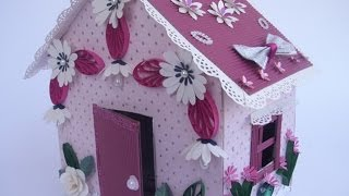 Как сделать Кукольный домик из картонных коробок Из бумаги Зеркало Поделки своими руками(, 2015-11-21T14:13:48.000Z)